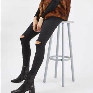 Topshop Moro Leigh black jeans, w26 L34